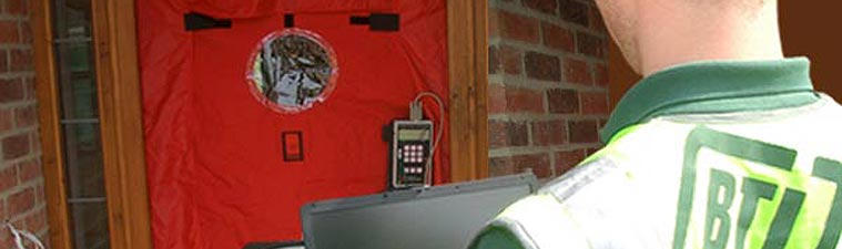 Building air tightness testing