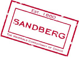 Sandberg established 1860 stamp